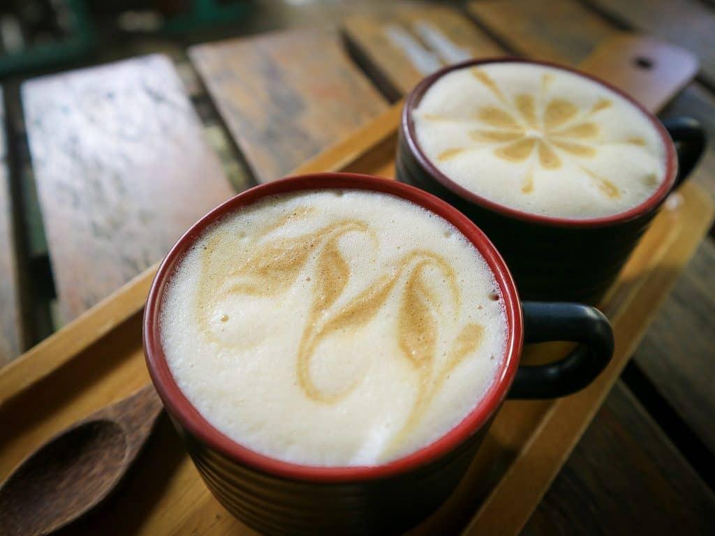 coconut egg coffee